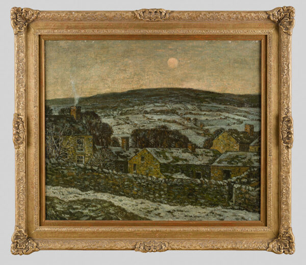 GRAHAM George (1881-1949) - Winter moon over Castle Bolton, North Yorkshire.
