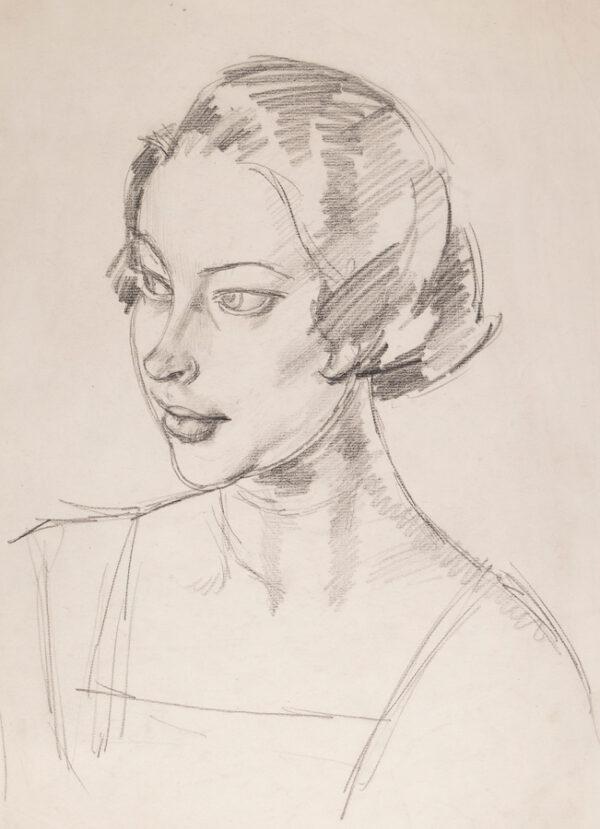 GRANT James Arden (1887-1974) - Head of a girl.