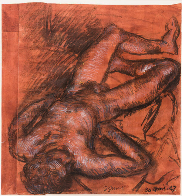 GRANT Duncan (1885-1978) - Foreshortened Figure – probably Paul Roche.