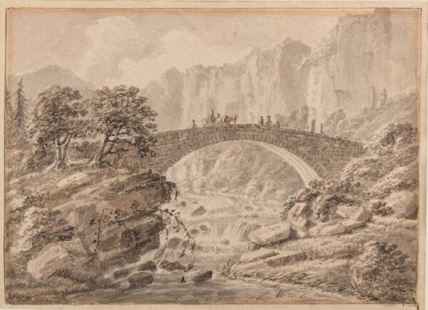 GREEN Amos (1735-1807) - A Welsh bridge.
