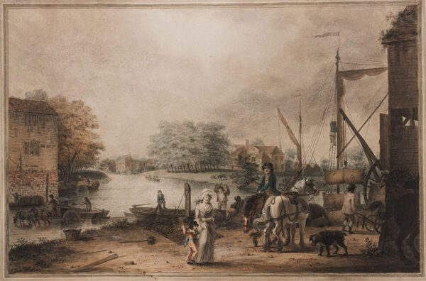 GREEN James (1771-1834) - On the upper Thames Watercolour.