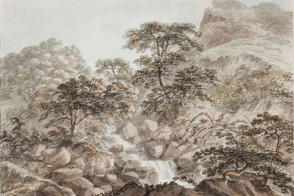 LISTER Harriet (1753-1821) (Mrs Amos Green from 1796) - A Lake District waterfall.