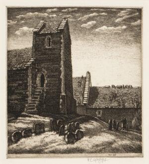 GRIGGS Frederick Landseer Maur Griggs R.A. R.E. (1876-1938) - 'Syde Church' (C.