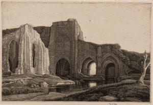 GRIGGS Frederick Landseer Maur Griggs R.A. R.E. (1876-1938) - 'Fen Monastery' (C.