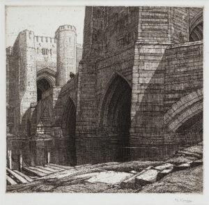 GRIGGS Frederick Landseer Maur Griggs R.A. R.E. (1876-1938) - 'The Barbican' (C.