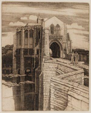 GRIGGS Frederick Landseer Maur Griggs R.A. R.E. (1876-1938) - 'St Botolph's Bridge No.