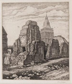 GRIGGS Frederick Landseer Maur Griggs R.A. R.E. (1876-1938) - 'Castor'.