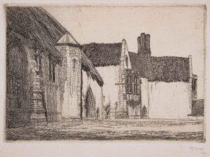 GRIGGS Frederick Landseer Maur Griggs R.A. R.E. (1876-1938) - 'Minsden Episcopi (C.