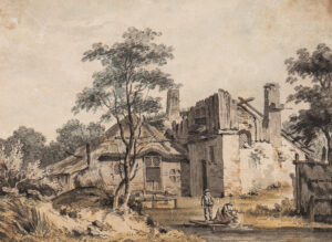 GRIMM Samuel Hieronymous (1733-1794) - A Swiss or French ruin.