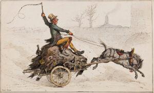 GRISET Ernest (1844-1907) - 'Off Home'.