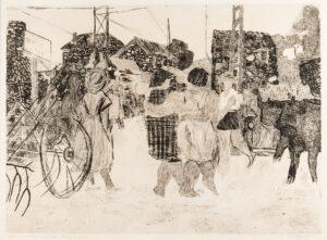 GROSS Anthony R.A. R.W.S. (1905-1984) - 'Les Heures de Boulve – Village Encounter' (H.