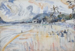 GROSS, Anthony R.A. (1905-1984) - The beach at Cannes.