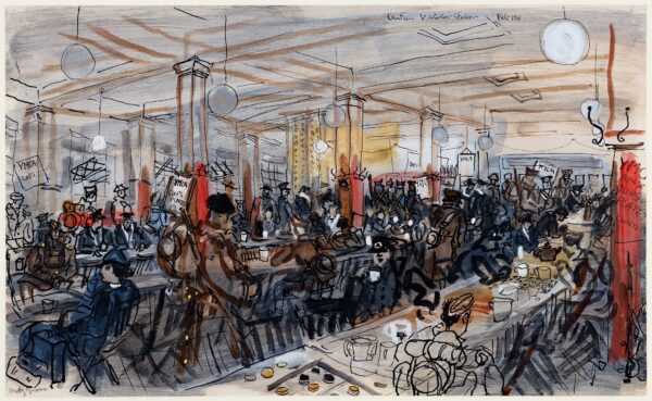GROSS Anthony R.A. (1905-1984) - 'Canteen, Waterloo Station'.