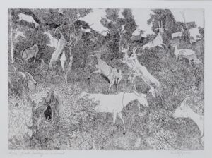 GROSS Anthony R.A. R.E. (1905-1984) - 'Goats grazing in a wood' (RH7304).