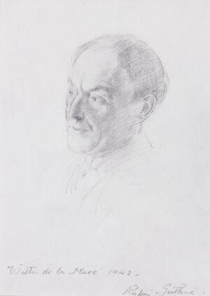 GUTHRIE Robin (1902-1971) - 'Walter de la Mare', Poet and Novellist.