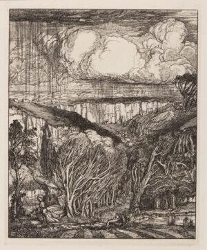 GUTHRIE James J. (1874-1952) - 'Clouds'.