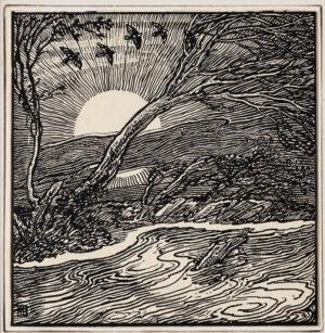 GUTHRIE James Joshua (1874-1952) - Sunrise.