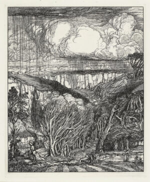 GUTHRIE James Joshua (1874-1952) - Rainstorm.