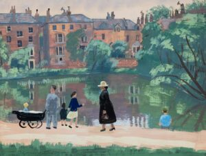 GUTHRIE Kathleen (1905-1981) - 'The Woman in Black', Hampstead No.