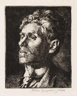 GWYNN-JONES Allan C.B.E. R.A. (1892-1982) - 'The Unshaven Man'.