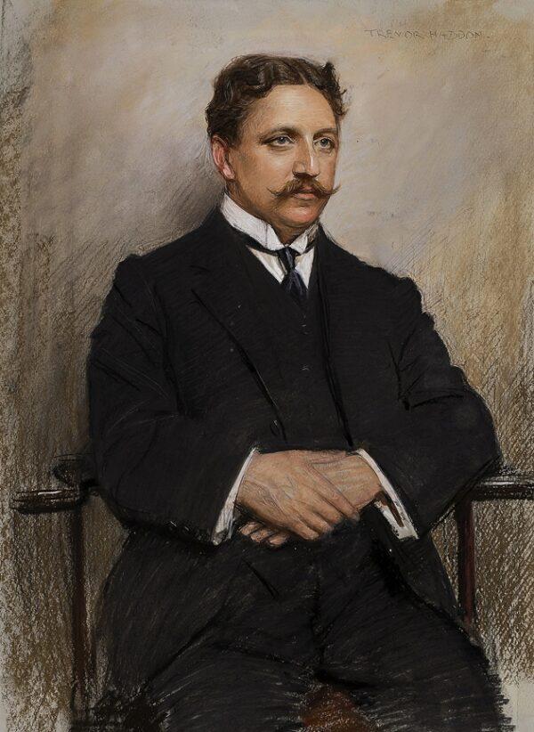 HADDON Arthur Trevor (1864-1941) - Portrait of Herman Finck (1872-1939) composer and conductor.