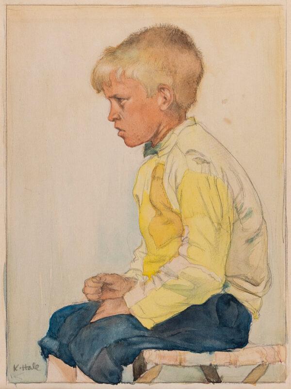 HALE Kathleen (1898-2000) - 'The Yellow Shirt, Etaples'.