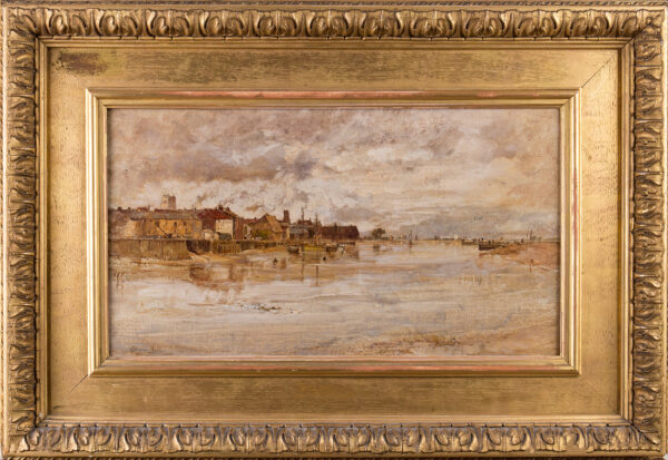 HALL Oliver R.A. (1869-1957) - Kings Lynn from the River.