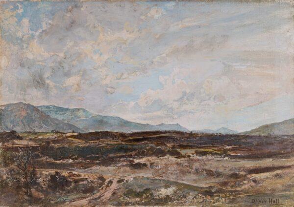 HALL Oliver R.A. R.W.S. (1869-1957) - 'Inverlochy Moor'.