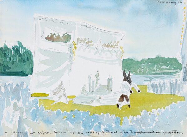 HALLIDAY Alan (b.1952) - 'A Midsummer Night's Dream at the Henley Festival – The Transformation of Bottom'.