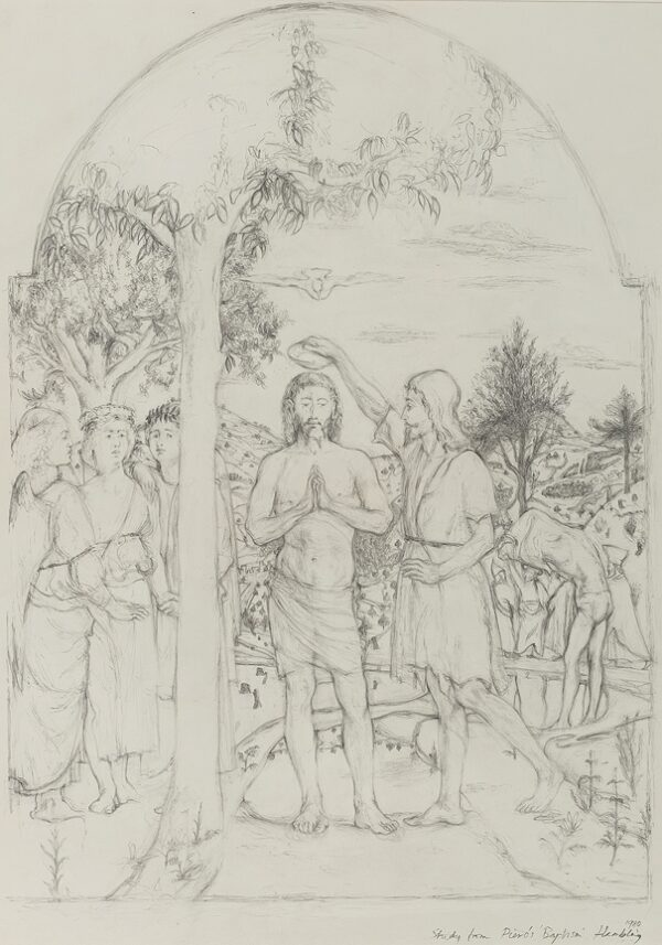 HAMBLING Maggi C.B.E. (b.1945) - 'Study from Piero's 'Baptism' '.