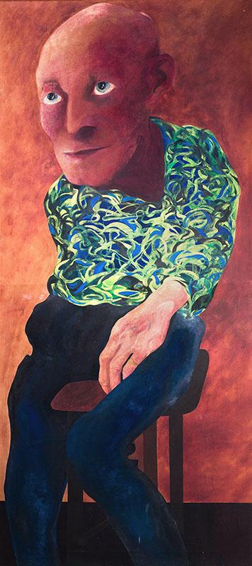 HAMBLING Maggi (b.1945) - 'Personage (2)': a portrait of Lett Haines (1894-1978).