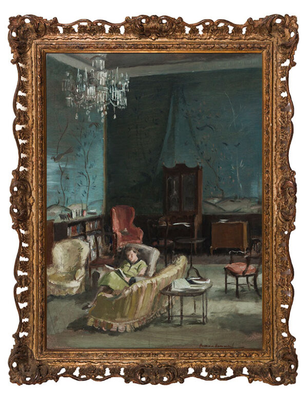 HAMMOND Hermione (1910-2005) - 'The Drawing Room, the Deanery, Durham'.