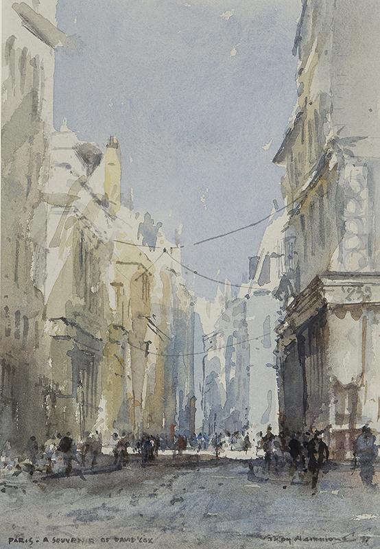 HAMMOND Roy (b.1934) - 'Paris – a souvenir of David Cox'.