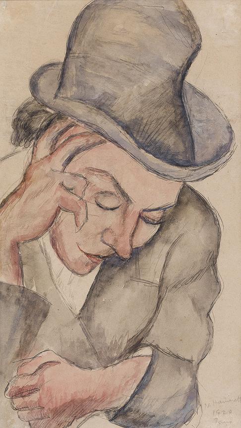 HAMNETT Nina (1890-1956) - Study of a thoughtful Man.