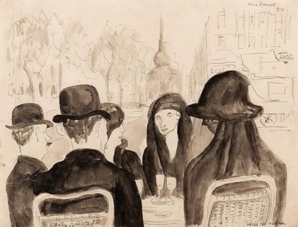 HAMNETT Nina (1890-1956) - 'After the Funeral'.