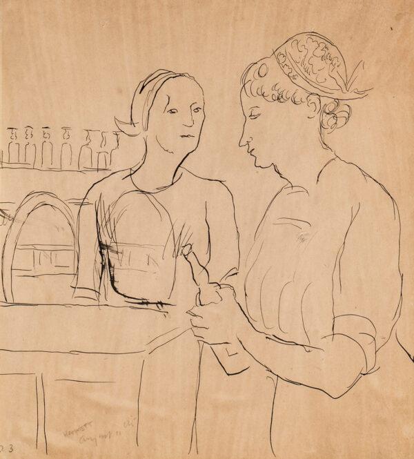 HAMNETT Nina (1890-1956) - Women at a Bar.