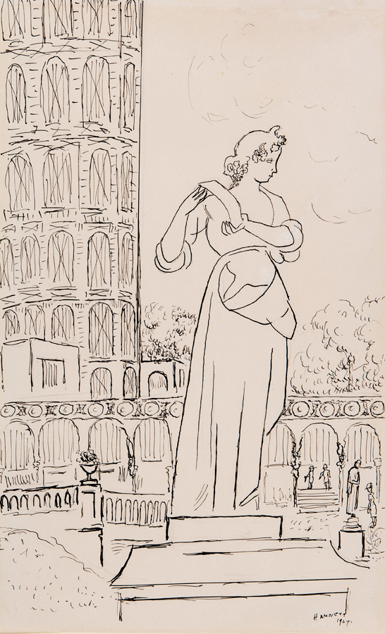 HAMNETT Nina (1890-1956) - The Crystal Palace: Statue and Water Tower.