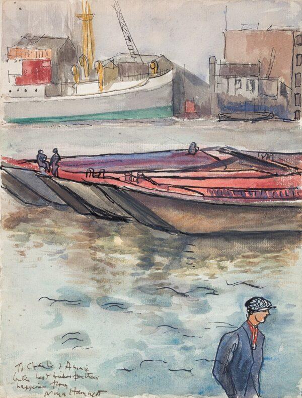 HAMNETT Nina (1890-1956) - Dockland scene.
