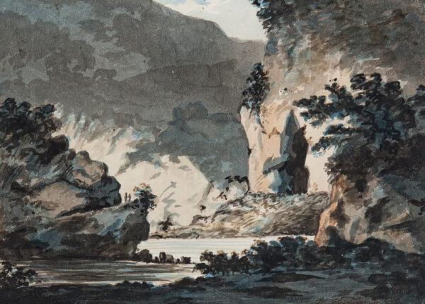 HAMPER W (fl.1793-1795) - Romantic landscape.
