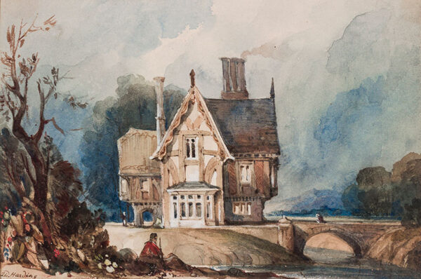 HARDING James Duffield (1793-1867) - A Picturesque Lodge.