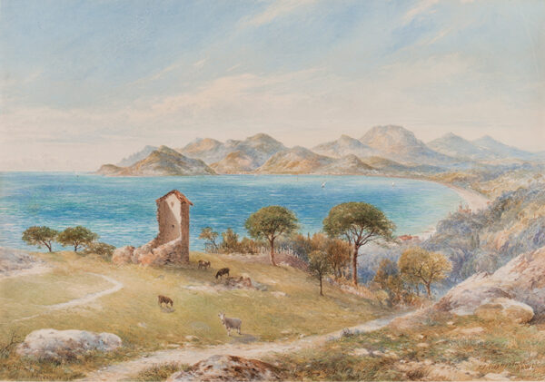 HARDWICK John Jessop (1831-1917) - 'View of the Esterelles Mountains from Cannes'.