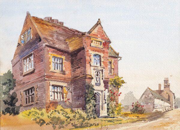 HARE Augustus John (1834-1903) - 'Little Thurlow – Grammar School of Sir John Soane'.