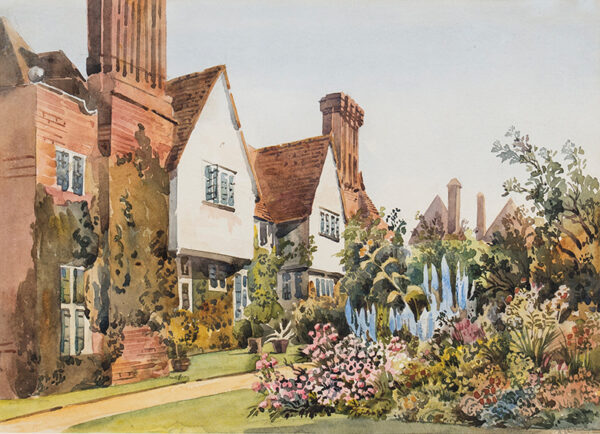 HARE Augustus (1834-1903) - An Arts and Crafts house and garden.