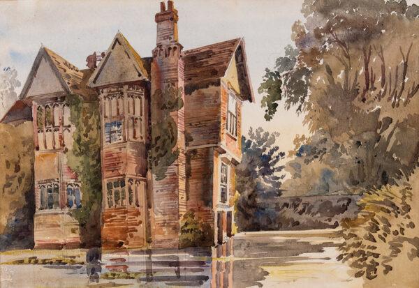 HARE Augustus Cuthbert (1834-1913) - Moat House, Parham, Suffolk.