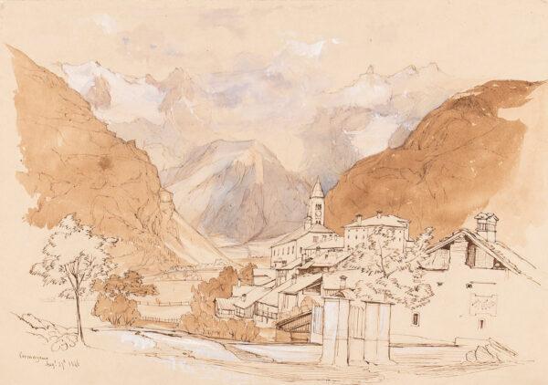 HARFORD John Scandrett F.R.S. (1785-1866) - 'Cormayeur', Val d'Aosta.
