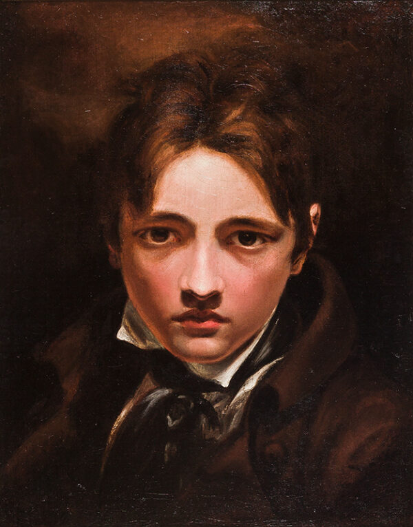 HARLOW George Henry (1787-1819) (Attributed to) - Head of a boy, thought to be a self-portrait.
