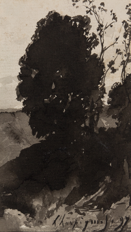 HARPIGNIES Henri Joseph (1819-1916) - Study of a tree.