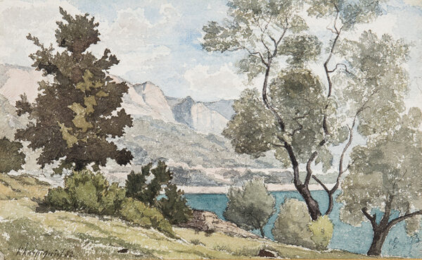 HARPIGNIES Henri (1819-1916) - The French Riviera.