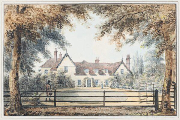 HARRADEN Richard Bankes (1756-1838) - A picturesque house, probably near Cambridge.