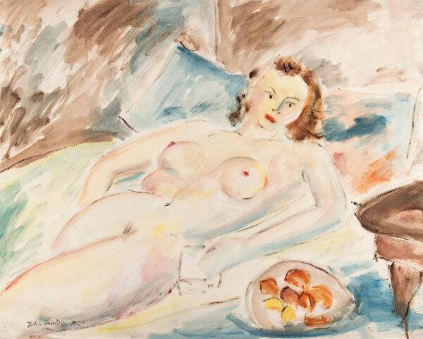 HARRISON John Theodore (1914-2002) - Nude and Fruit.